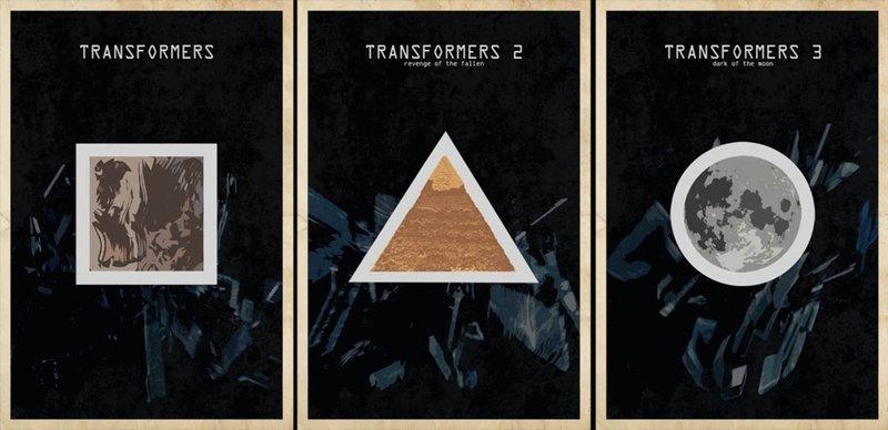 Минималистичные постеры Трансформеры