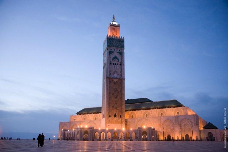 "Народный ""подарок"" королю: Мечеть Хасана II в Касабланке: kitv"