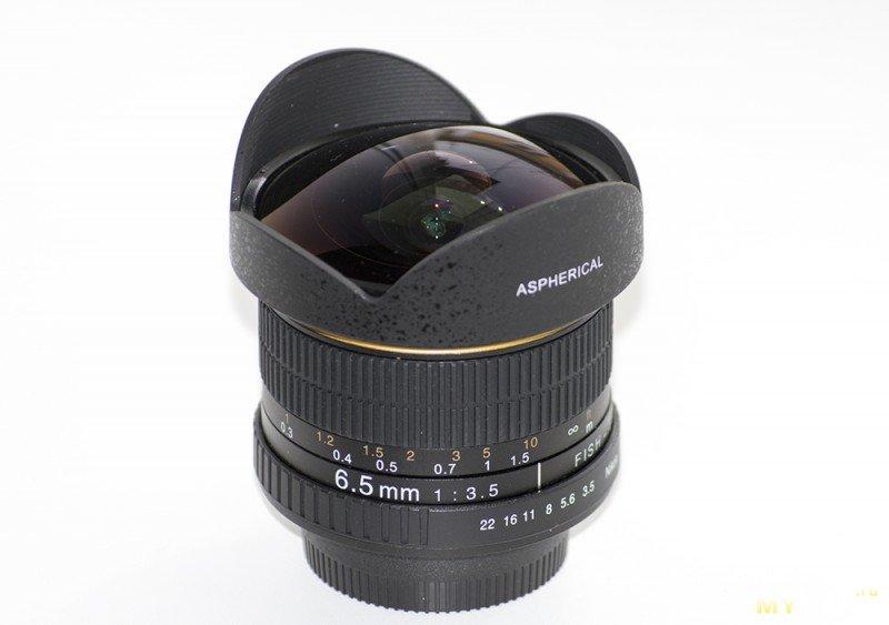 Объектив рыбий глаз ( фишай ) для Nikon APS-C (Kelda 6.5mm F/3.5)