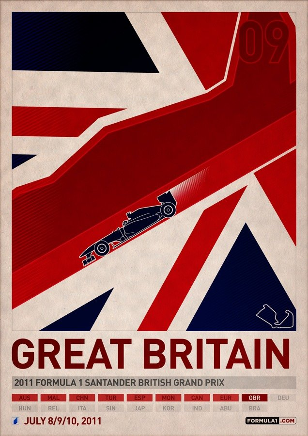 Постеры Формулы-1 от PJ Tierney
