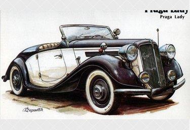 ретро автомобили иллюстрация