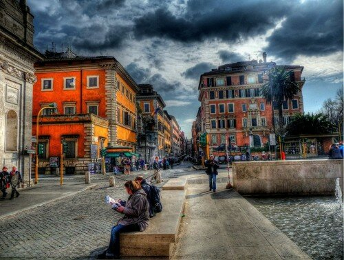 Улицы Рима в HDR
