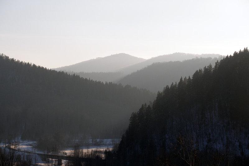 Восход и закат в горах Южного Урала