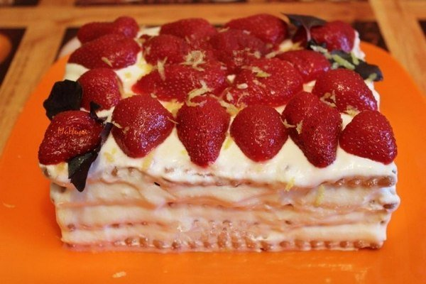 Тортики из печенья фото