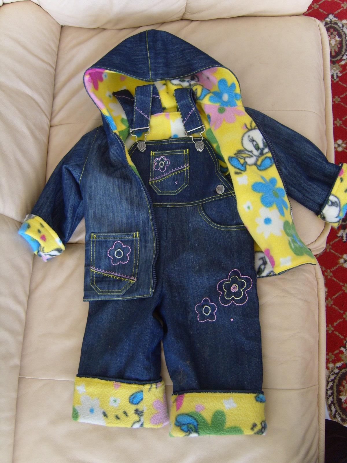 эффективным детская одежда из джинсов при