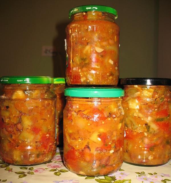 салат из баклажан с рисом на зиму рецепты с фото