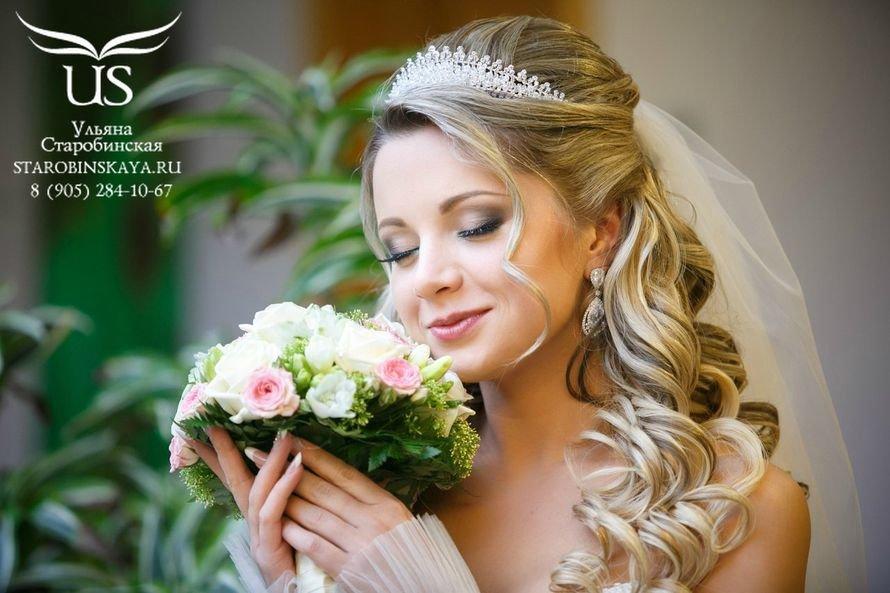 Прически на свадьбу невесте с фатой