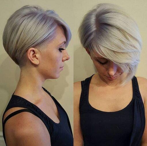 короткие ассиметричные стрижки фото женские
