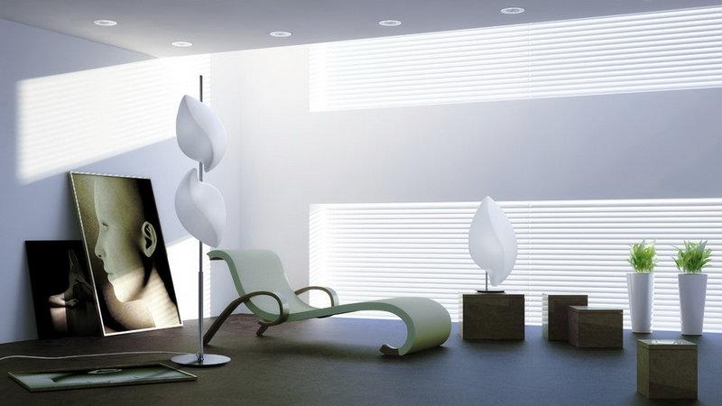 Декоративный напольный светильник-торшер