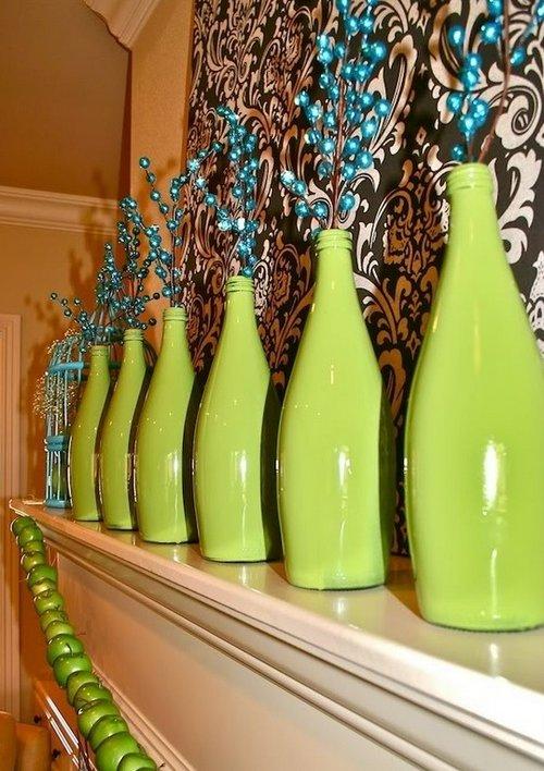 Декорирование бутылок фото
