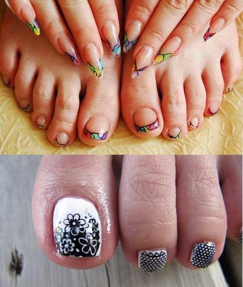 Дизайн ногтей на ногах (фото), модный педикюр своими руками