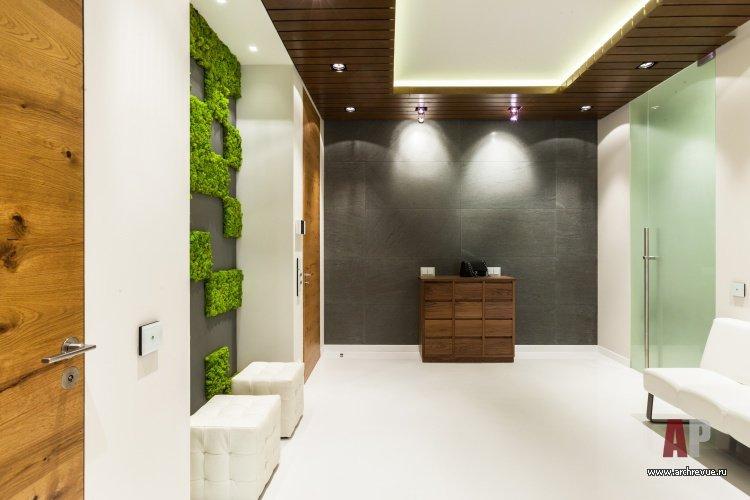 Фото интерьера гостиной двухуровневой квартиры в эко стиле