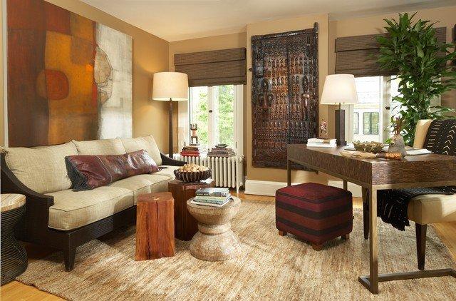 гостиная комната в африканском стиле