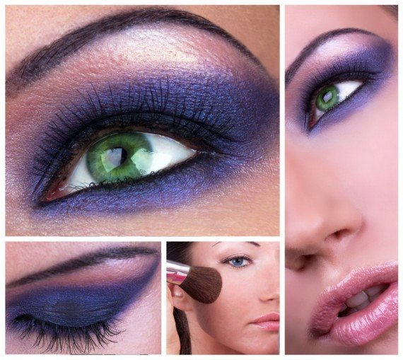 Коллаж - макияж smoky eyes
