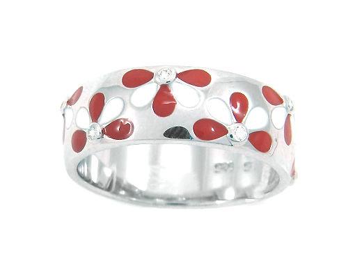 Кольцо , эмаль , куб.циркон. , АРТК11