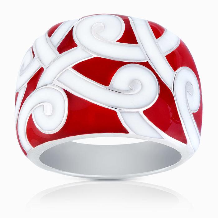 Кольцо из серебра 925° с эмалью 03476 - серебряные украшения SKAZKA Natali Romanovoi