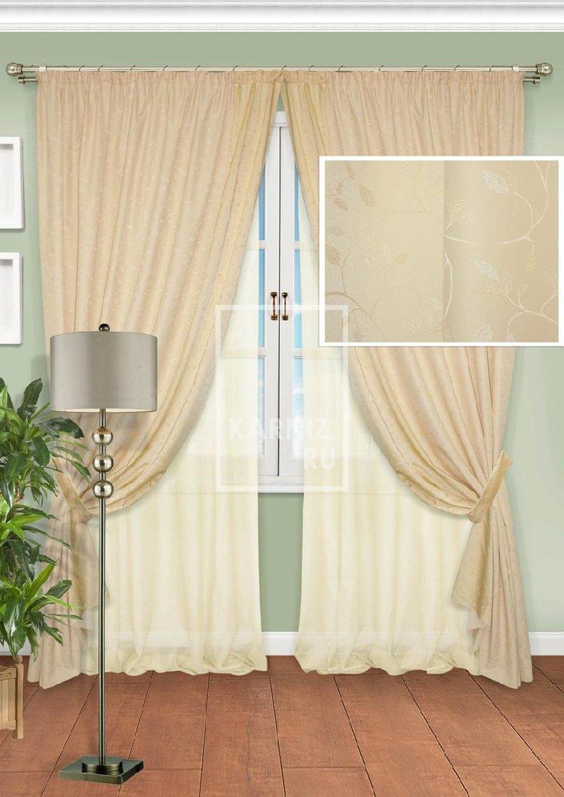 Комплект штор для гостиной Caorle-ST - «Карниз.ru» - интернет магазин карнизов, жалюзи, штор