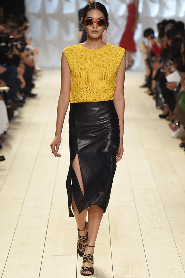 Красивые кожаные юбки 2015