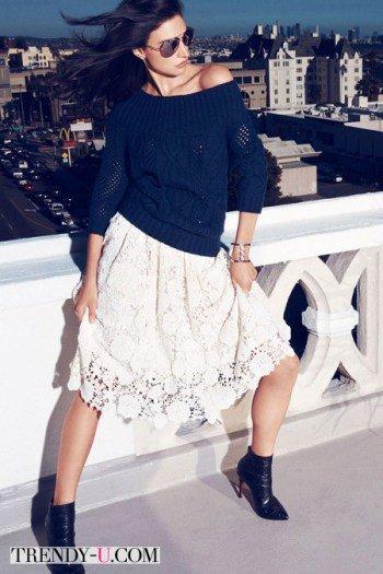Кружевная юбка Juicy Couture осень-зима 2014-2015