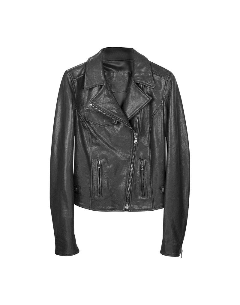 Купить черная кожаная куртка в мото стиле Forzieri — Москва, СПб, фото — Интернет-магазин брендовой одежды, сумок, обуви, аксессуаров из Италии
