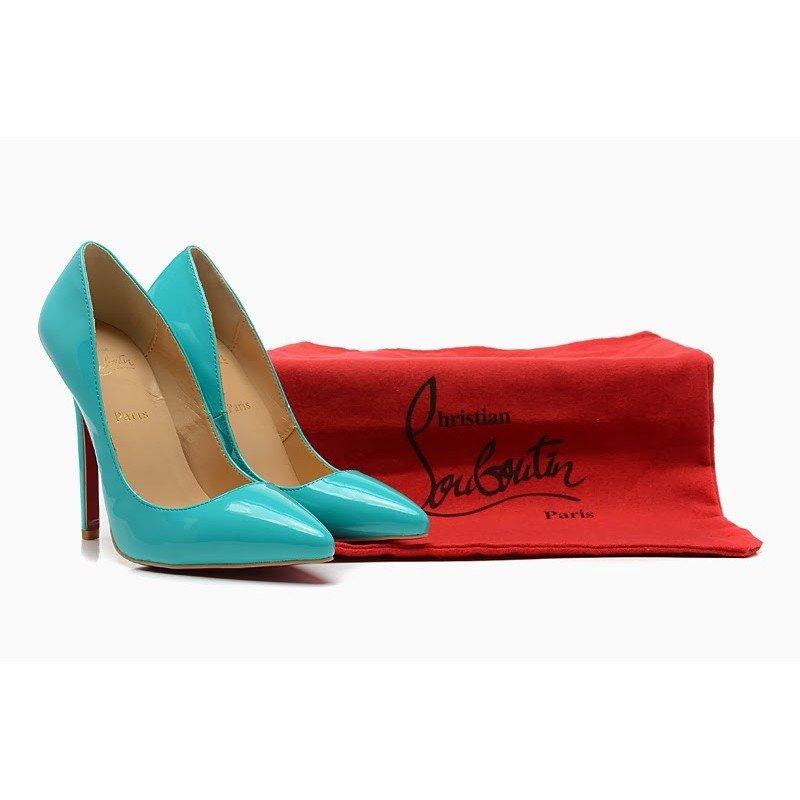 Голубые туфли-лодочки Christian Louboutin, Pigalle