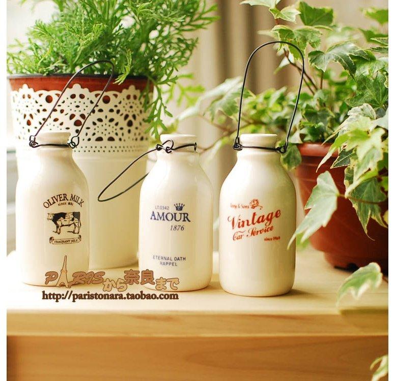 Купить ваза в виде молочной бутылки домашний декор VodniRuki.ru