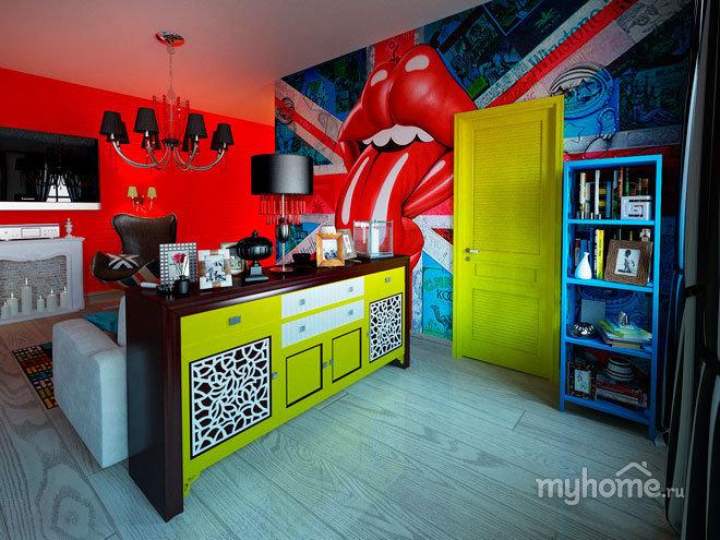 Квартира в стиле поп-арт — Интерьеры квартир, домов — MyHome.ru