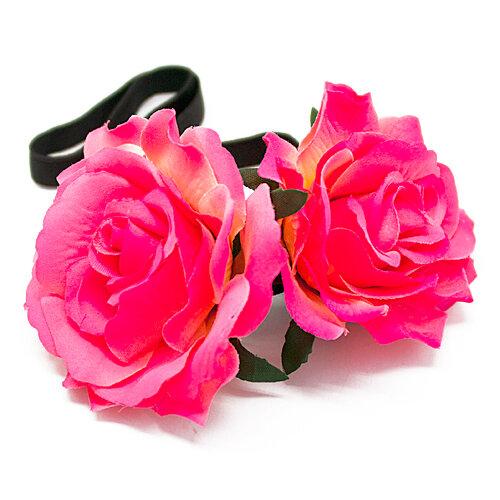 """Мягкий ободок """"Rose"""" (красный)"""