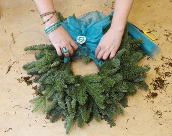 мк рождественский венок своими руками