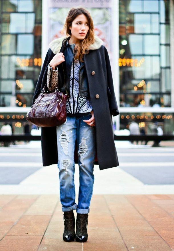 Модные джинсы бойфренды - фото