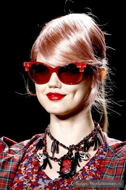 Модные очки-лисички осень-зима 2014-2015