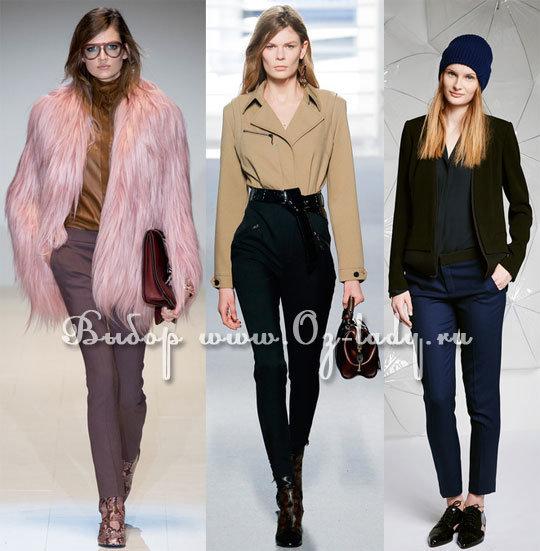 модные узкие брюки осень зима 2014 2015
