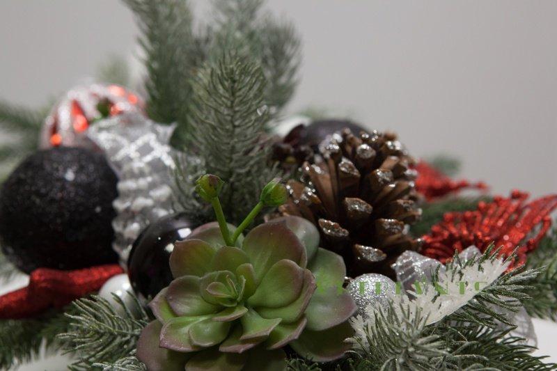 """Новогодняя композиция в Capi """"Гондола"""" - купить в Москве в интернет-магазине Artplants.ru. Отзывы, фото, цены."""