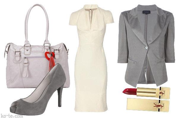 Образ с белым платьем футляр