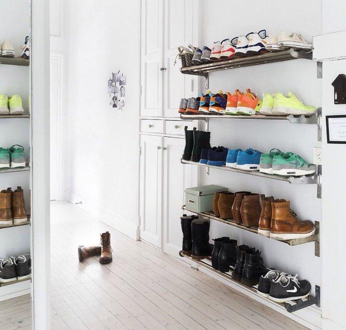 Полки для хранения обуви