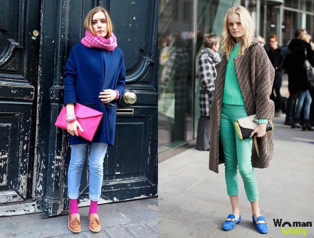 С чем носить лоферы -  лоферы с укороченными джинсами скинни