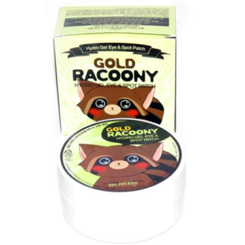 Secret Key Gold Racoony Hydrogel Eye & Spot Patch патчи для глаз гидрогелевые купить в Москве.