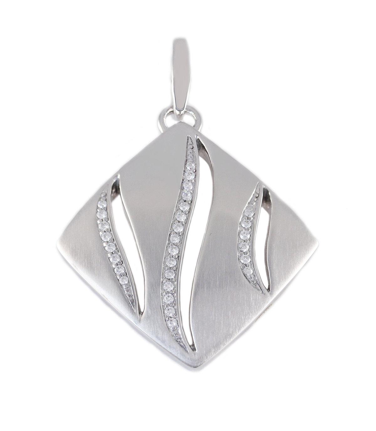 Серебряная подвеска с цирконом 2130010-H | 2130010-H ― VikoSilver