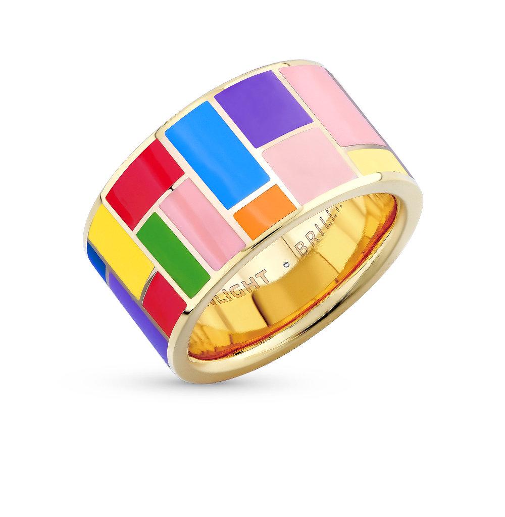 Серебряное кольцо с эмалью купить , бриллиант, эмаль. Смотреть фото и описание 19214 - Sunlight Brilliant