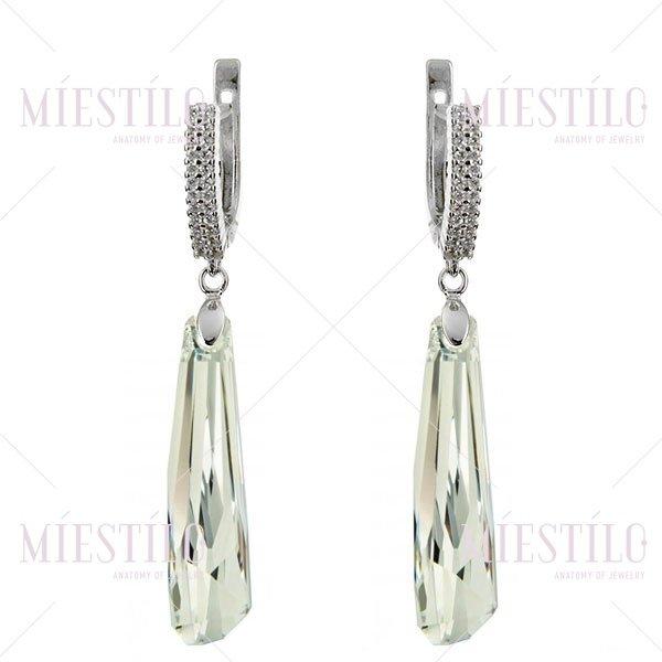 Серьги со Swarovski кристаллами 6017 Crystal CAL V SI купите в интернет-магазине!
