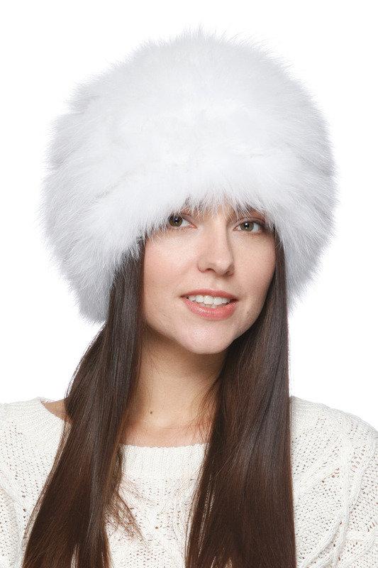 Шапка №29 Вязаный мех, цвет белый, артикул W14102112681