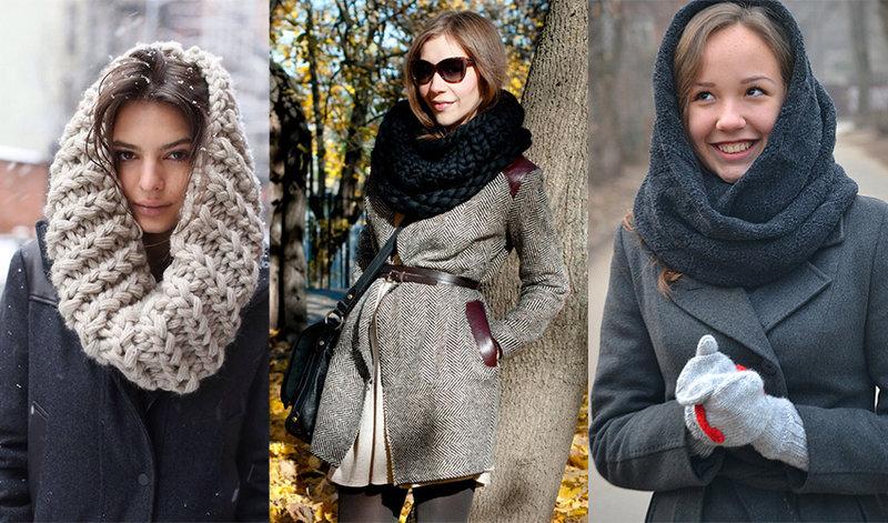 Шарф-снуд: модный тренд зима-весна 2015 | Женский журнал Мириэль
