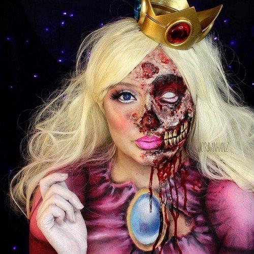 Сложный макияж на Хэллоуин