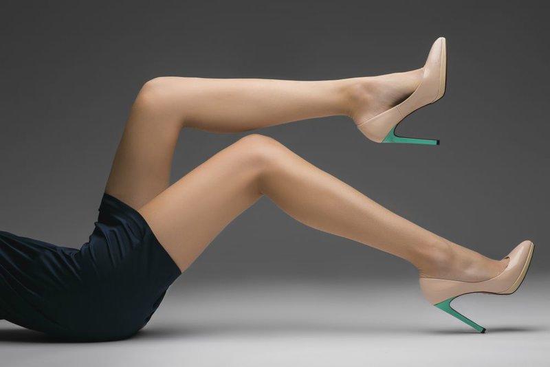 туфли Christian Louboutin с зеленым каблучком