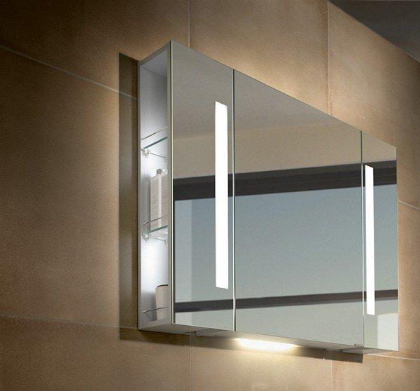 зеркало с подсветкой для ванной в виде шкафа фото