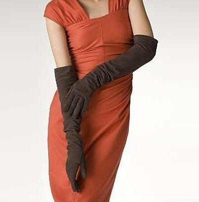 Женские замшевые перчатки | Фото - 231142
