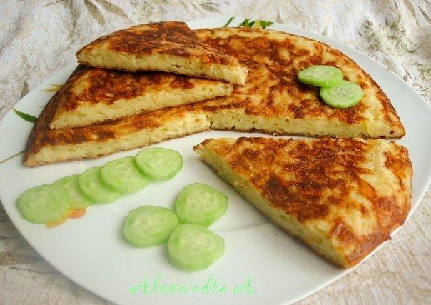 лепешка сыром на сковороде рецепт фото