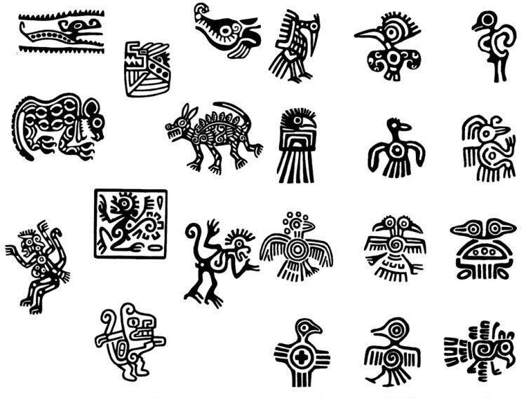 это наверное этнические рисунки индейцев сегодняшний денек будет