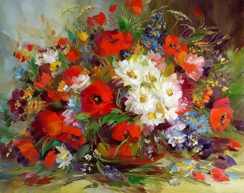 Картины с красивыми цветами 90