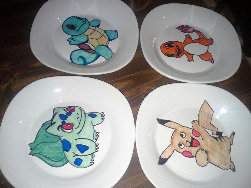 Тарелки с Покемонами